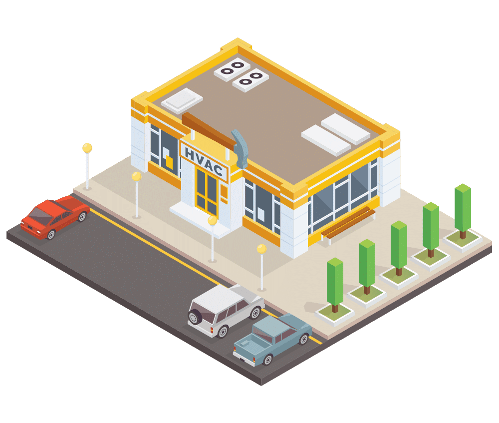 HVAC shop vector image