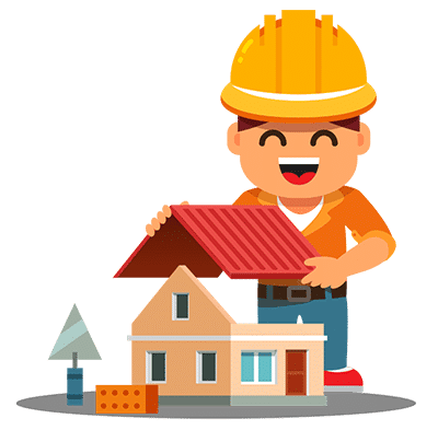 Roofing construction vector image